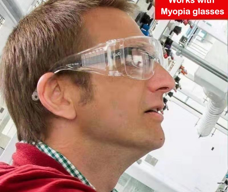 Goggles Lab Safety – High Impact Resistance – Crystal Clear – Heavy Duty Industrial Strength Eye Goggles Protection